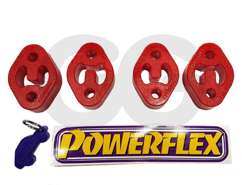 Powerflex Exhaust Poly Bushes X4 | Complete Car Set Fiesta ST 180